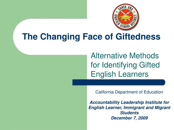 the changing face of giftedness n.