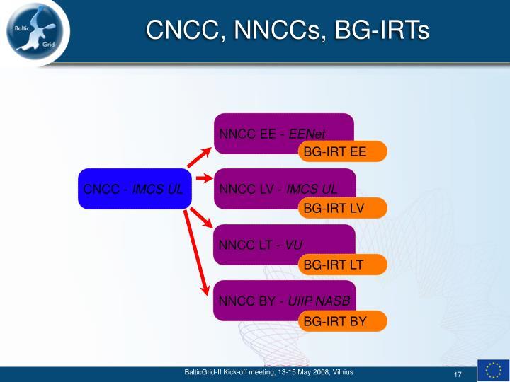 CNCC, NNCCs, BG-IRTs