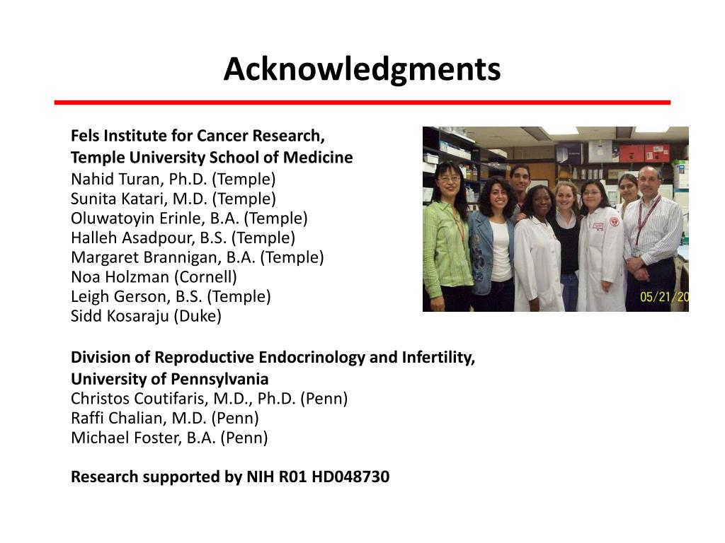 PPT - Fels Institute for Cancer Research and Molecular Biology