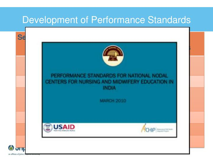 Development of Performance Standards
