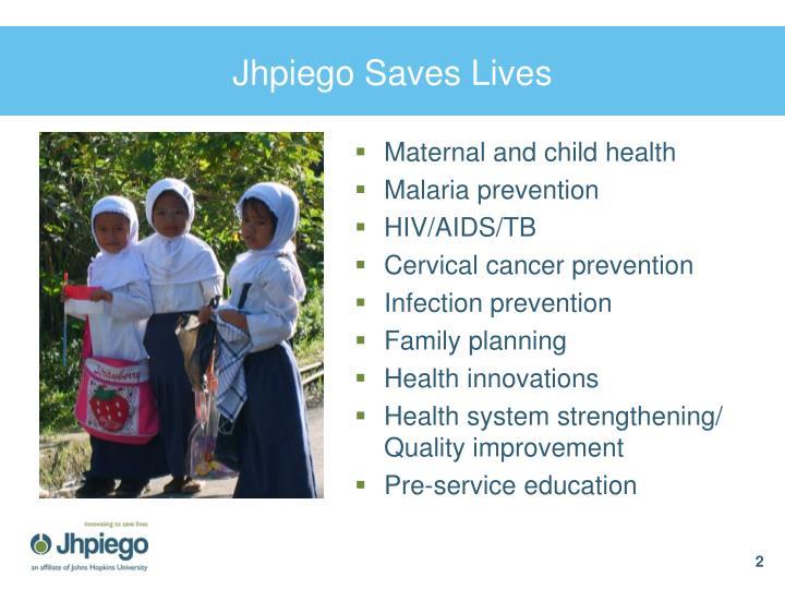 Jhpiego saves lives
