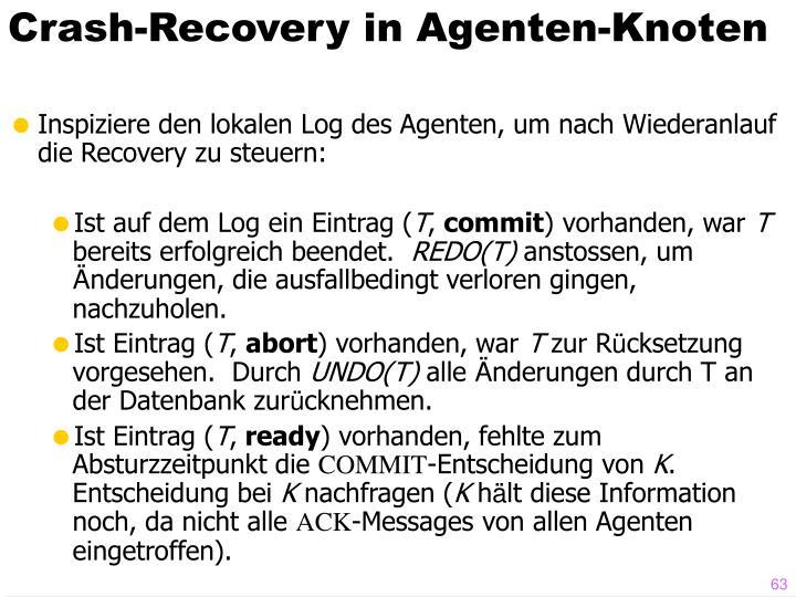 Crash-Recovery in Agenten-Knoten