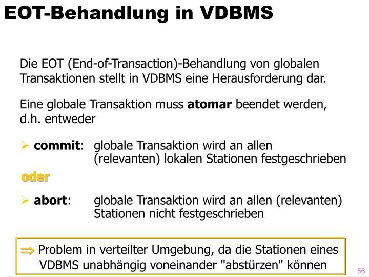 EOT-Behandlung in VDBMS