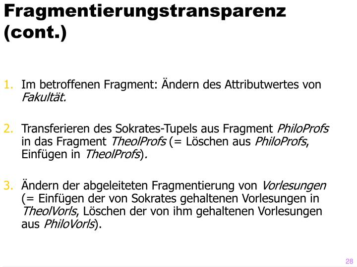 Fragmentierungstransparenz (cont.)