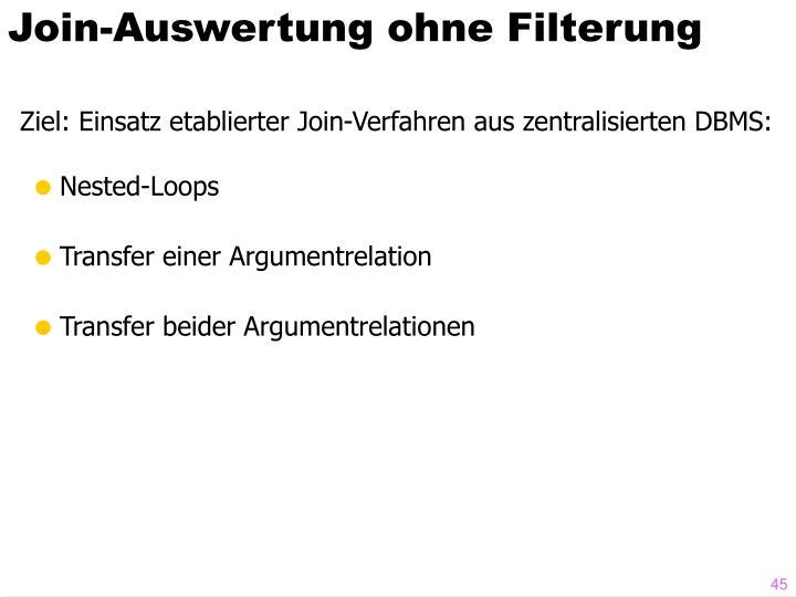 Join-Auswertung ohne Filterung