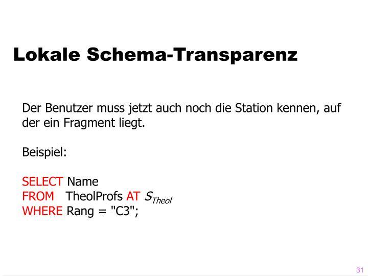 Lokale Schema-Transparenz