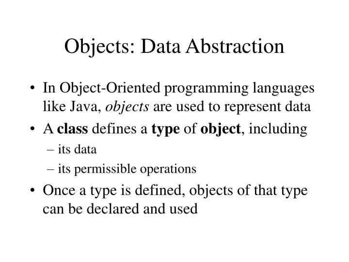 objects data abstraction