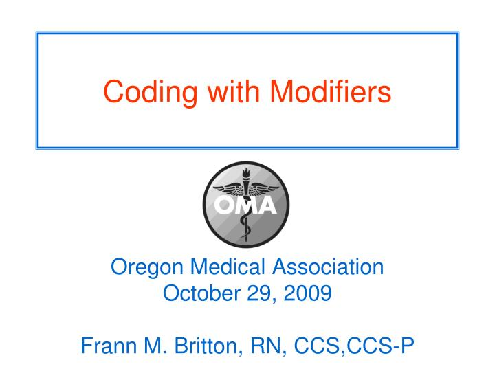 coding with modifiers n.