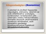 k zgazdas gtan economics