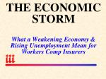 the economic storm what a weakening economy rising unemployment mean for workers comp insurers