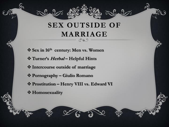 Sex outside of marriage