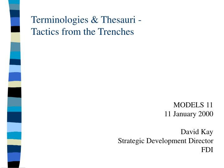 terminologies thesauri tactics from the trenches