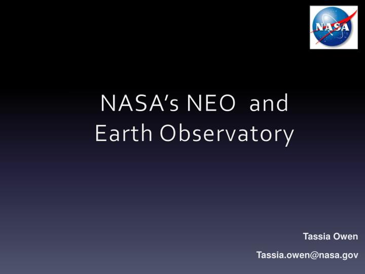 nasa s neo and earth observatory n.