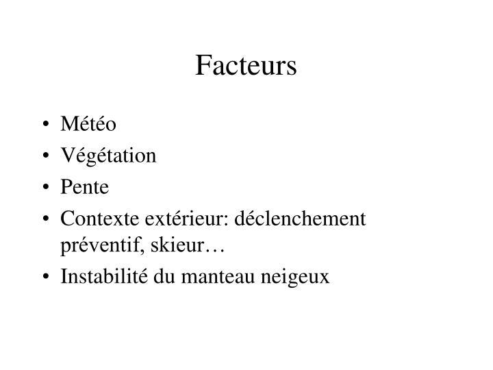 Facteurs