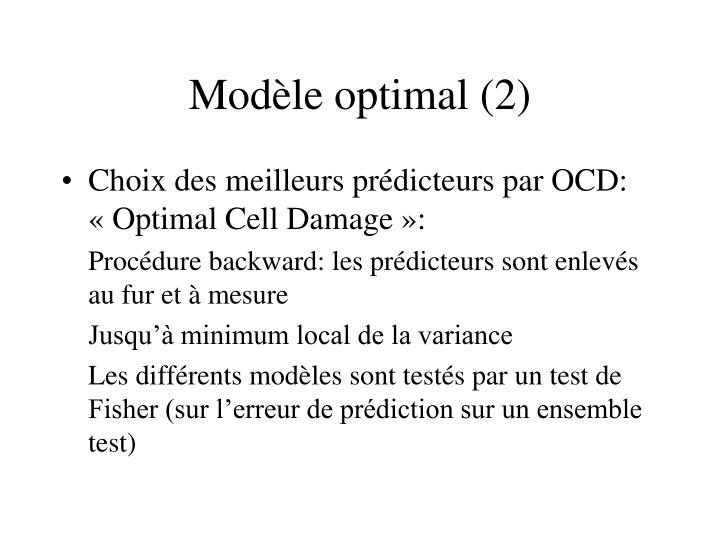 Modèle optimal (2)