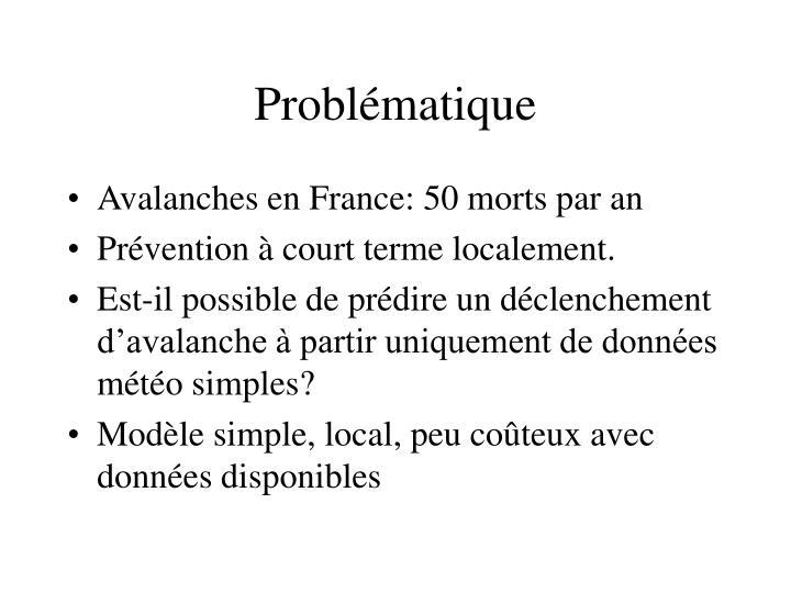 Probl matique