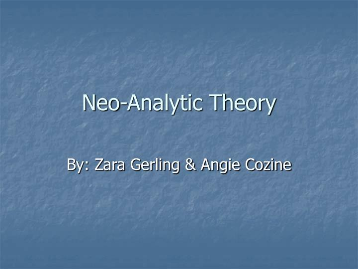 neo analytic theory n.