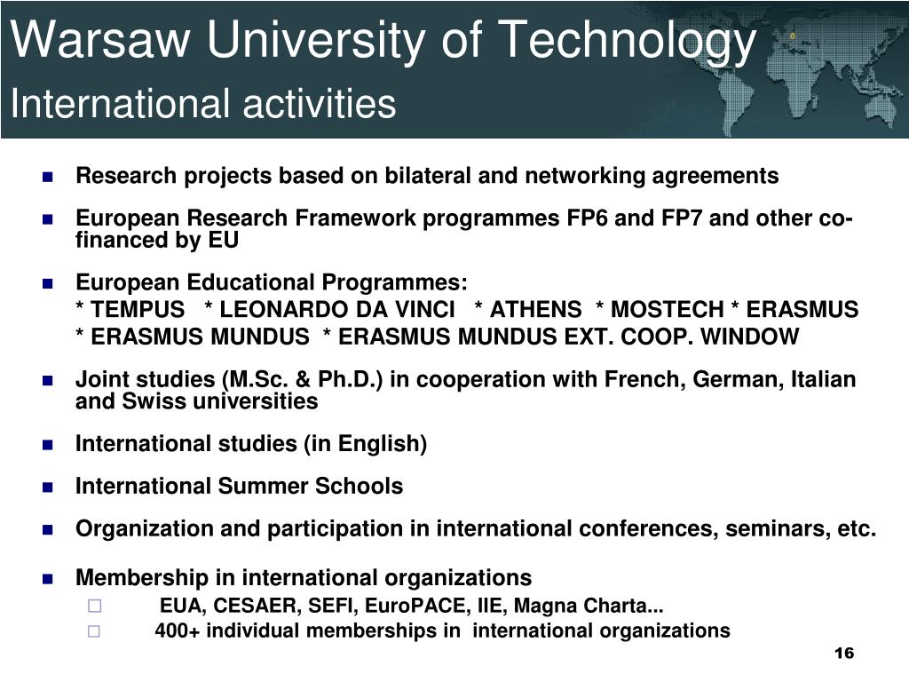 PPT - Warsaw University of Technology PowerPoint