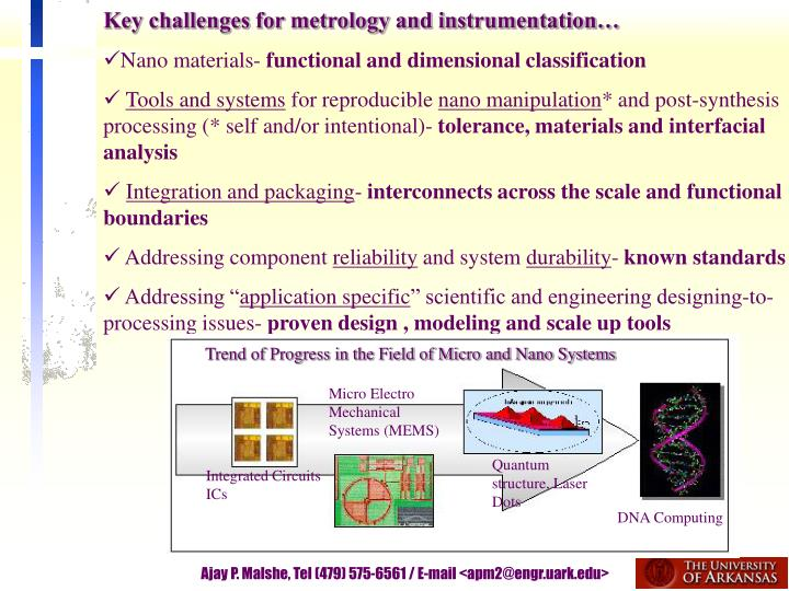 Key challenges for metrology and instrumentation…