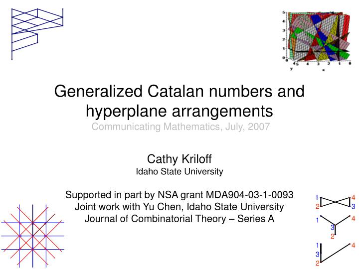 Generalized catalan numbers and hyperplane arrangements communicating mathematics july 2007