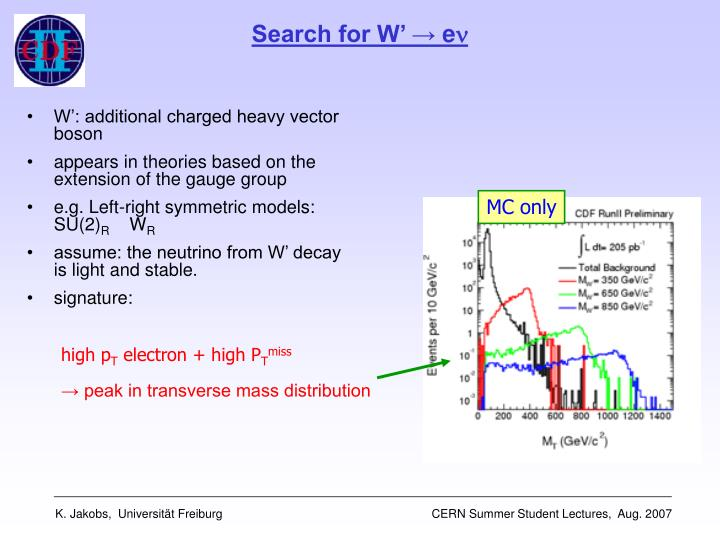 Search for W'