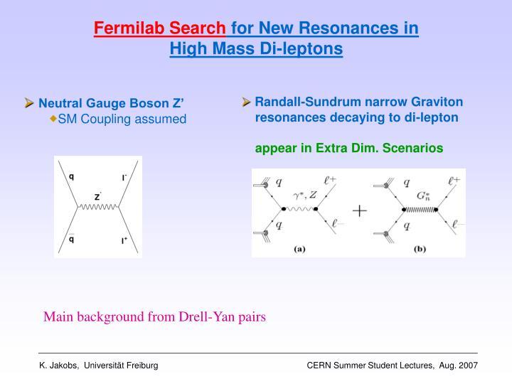 Fermilab Search