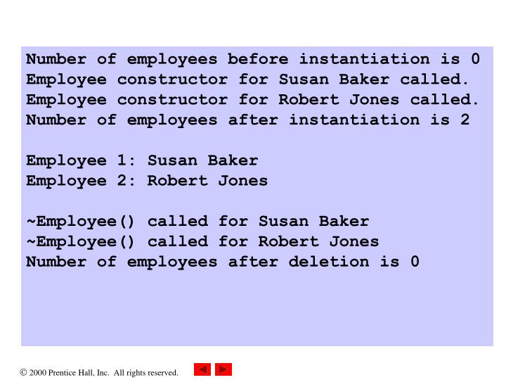 Number of employees before instantiation is 0