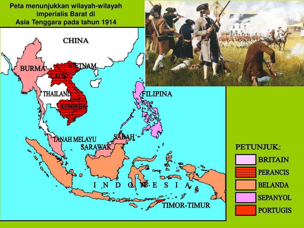 Ppt Peta Menunjukkan Wilayah Wilayah Imperialis Barat Di Asia Tenggara Pada Tahun 1914 Powerpoint Presentation Id 4449093