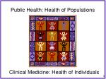 public health health of populations
