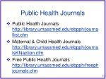 public health journals