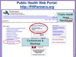public health web portal http phpartners org3