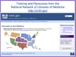training and resources from the national network of libraries of medicine http nnlm gov
