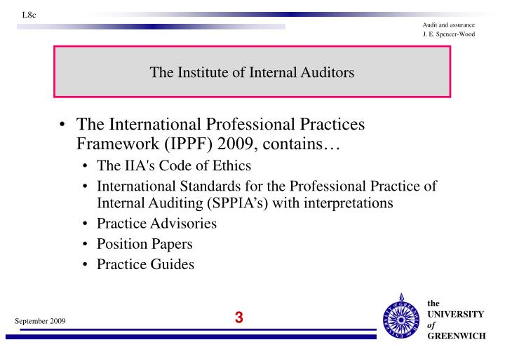 The institute of internal auditors1