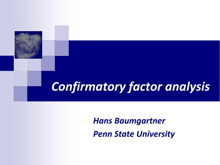 punctuality confirmatory factor analysis