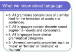 what we know about language2