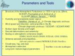 parameters and tools