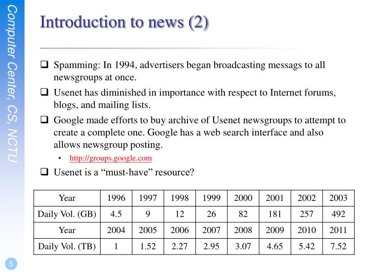 Introduction to news (2)