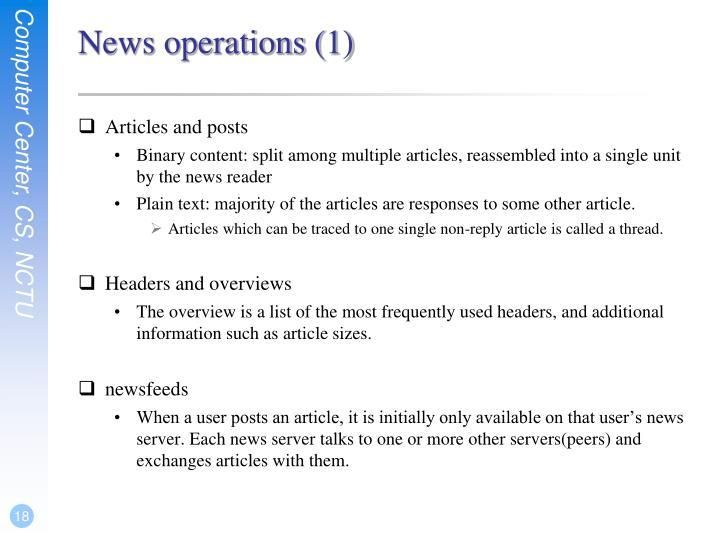 News operations (1)