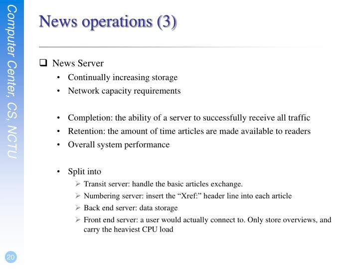 News operations (3)
