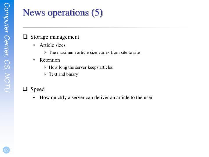 News operations (5)