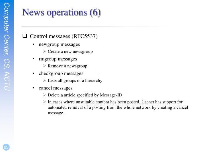 News operations (6)