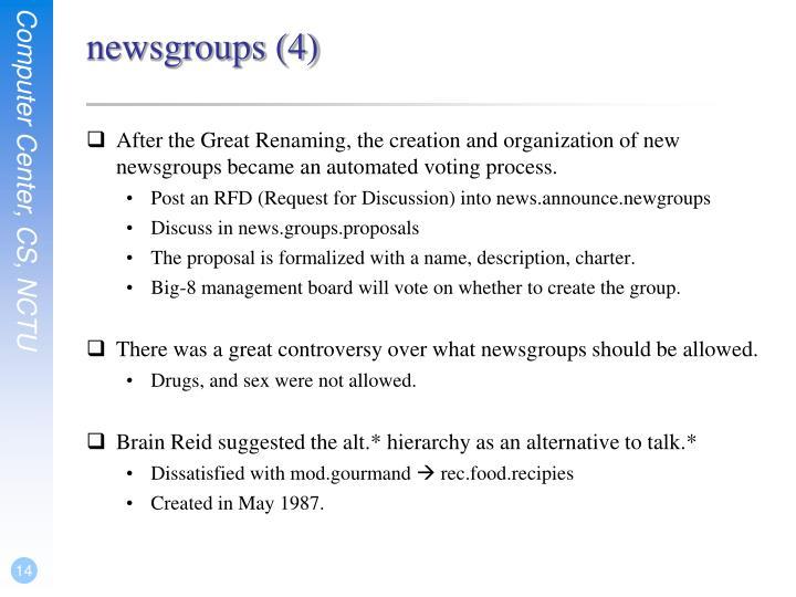 newsgroups (4)
