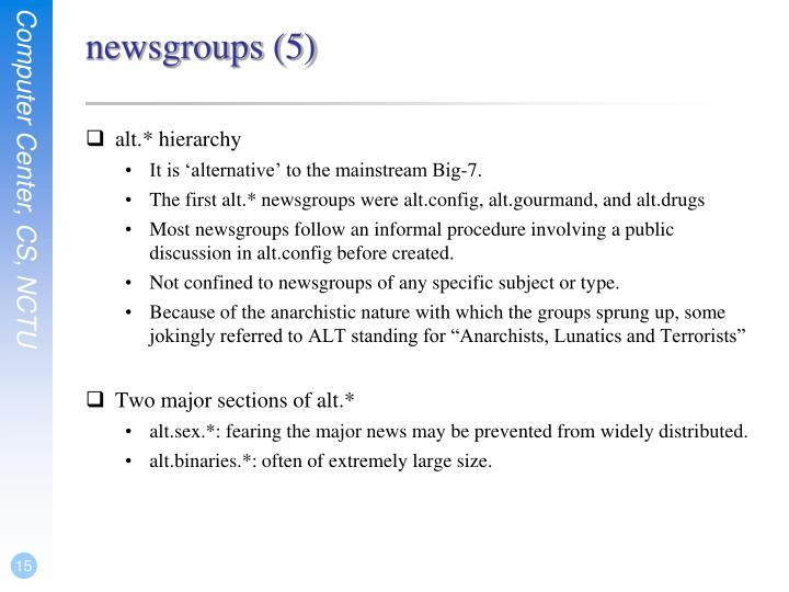 newsgroups (5)