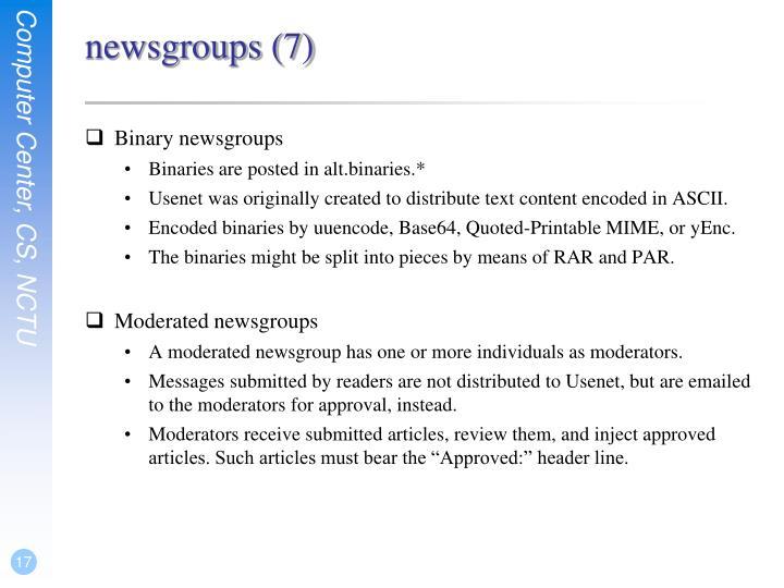 newsgroups (7)