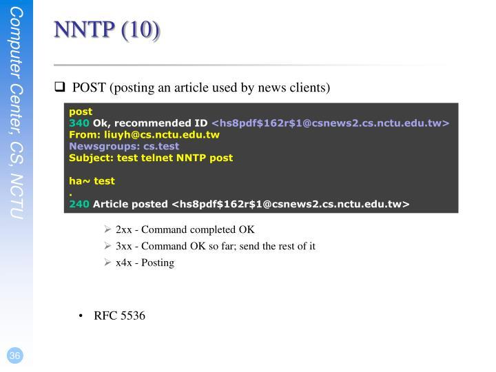 NNTP (10)