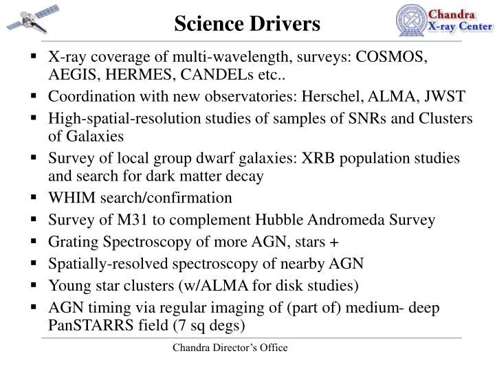 Science drivers