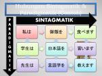 hubungan sintagmatik paradigmatik contoh
