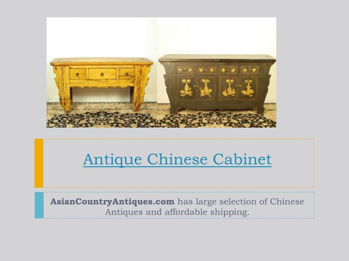antique chinese cabinet n.