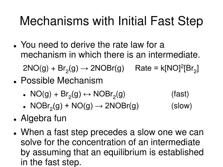 Mechanisms with Initial Fast Step