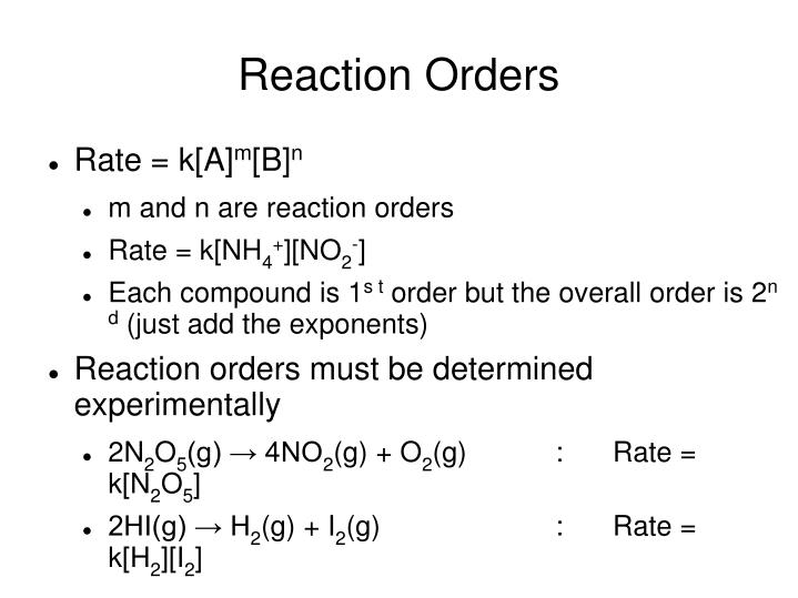 Reaction Orders